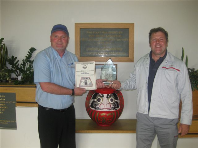 Grupo Antolin Sunderland Receives The Safety Award From
